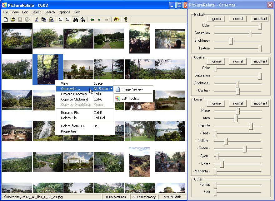 Click to view PictureRelate 2.6.3 screenshot